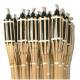 Bamboo Cane Torch 1.20 cm height. Box 24 pcs.