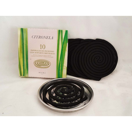 Citronela spiral incense with metal support
