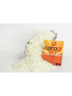 White beeswax in beads 1 kg.