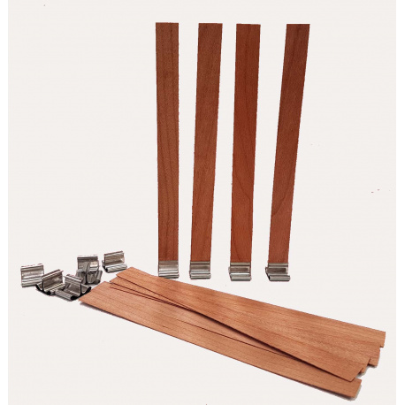 Wicks of wood with metal support 10 units