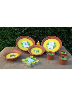 Candles citronella terracotta. Garden pack