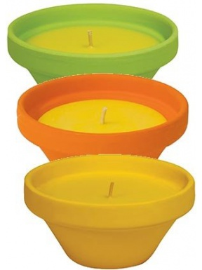 Terracotta candle citronella colors 6 units