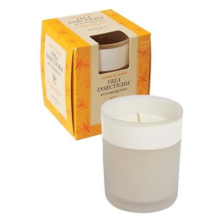 White Frosted Glass Insecticide Candle. Box 6 units