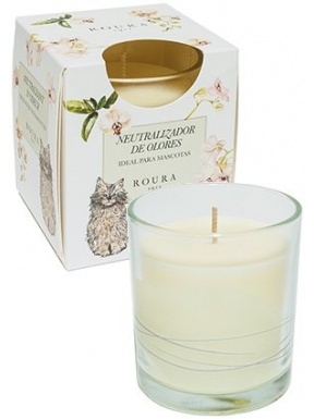 Candle Glass Neutralizer Cat Perfume White Orchid