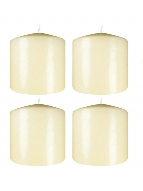 Natural series candle 10 x 10 cm diameter Box: 4 units