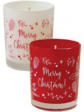 Candle Glass Christmas Perfume - Merry Christmas Collection
