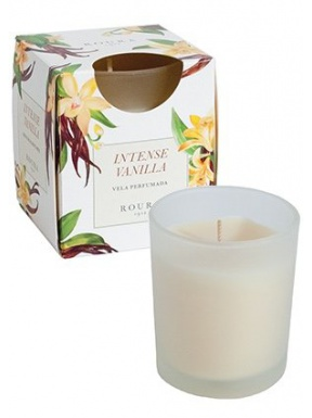 Candle Satin Glass Perfume Vanilla