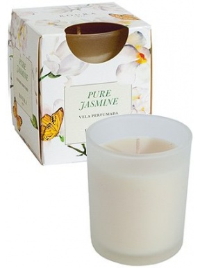 Candle Satin Glass Perfume Jasmine