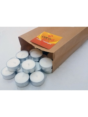 "Candles ""tealights"" Pack of 50 units"