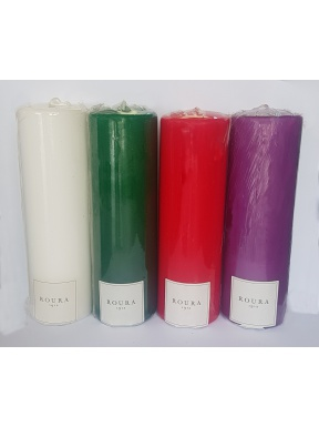 candles for the advent wreath Pack 4. 20 x 6 cm